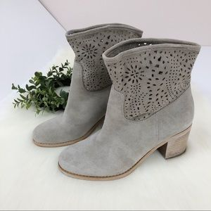 Crown Vintage l Gray Suede Slouch Booties 7